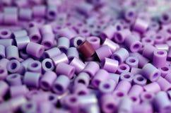 Purpurowy Paciorkowaty Makro- tło Zdjęcie Stock