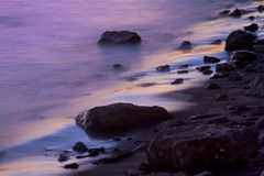 Purpurowy przypływ zdjęcia stock