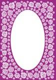 purpurowy róża ramowego ilustracji