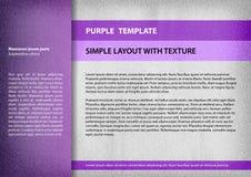 Purpurowy szablon Obrazy Stock