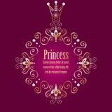Purpurowy tło z luksusową złocistą rocznik ramą w ilustracji
