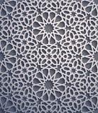 Purpurowy tło Islamski ornamentu wektor, perski motiff 3d Ramadan round wzoru islamscy elementy geometryczny Obraz Stock