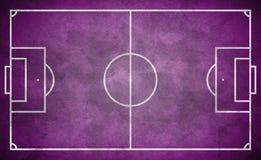 Purpurowy uliczny boisko do piłki nożnej w grunge stylu - boisko piłkarskie Zdjęcia Royalty Free
