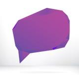 Purpurowy wektorowy mowa bąbel. + EPS8 Obraz Stock