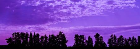 Purpurrot-Sonnenuntergang Lizenzfreies Stockbild