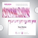 Purpurrot-weiße Laborallgemeinhinvisitenkarte. vektor abbildung