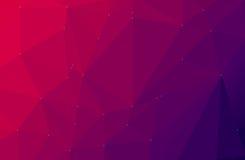 Purpurrote abstrakte geometrische niedrige Polyart Lizenzfreie Stockfotos