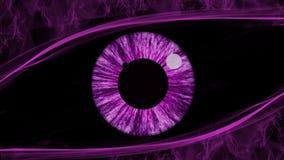 Purpurrote Augenzusammenfassung lizenzfreie stockfotografie