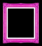 Purpurrote Bilderrahmen Getrennt auf schwarzem Hintergrund Stockfotos