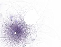 Purpurrote Blume des abstrakten Fractal auf weißem Hintergrund lizenzfreies stockbild