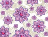 Purpurrote Blumen-Tapete Lizenzfreie Stockbilder