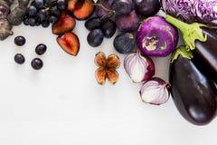 Purpurrote Frucht und veg Lizenzfreies Stockfoto