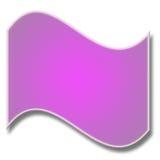 Purpurrote gebogene Fahne Stockfoto