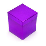 Purpurrote Geschenkbox Stockbild