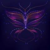Purpurrote Hintergrundabstraktions-Schmetterlingslinie Stockfoto