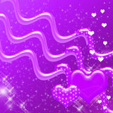 Purpurrote Innere und Schein-Hintergrund Stockfoto