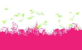 Purpurrote Kurven und Grün-Blätter Lizenzfreies Stockfoto