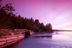 Purpurrote Landschaft der Natur Stockfotografie