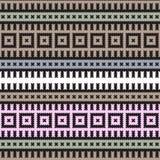 Purpurrote Linie indische mit BlumenMandala vektor abbildung