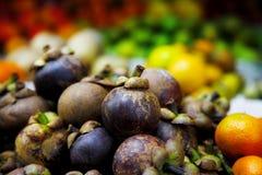 Purpurrote Mangostanfrucht Lizenzfreie Stockfotografie