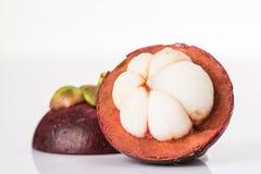 Purpurrote Mangostanfrucht Stockfoto