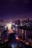Purpurrote Nacht Stockbild