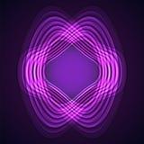 Purpurrote Neonverzerrung kreist auf schwarzem backgroÑ 'Ð ² ein Lizenzfreie Stockfotos