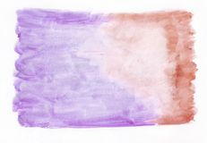 Purpurrote Orchidee und roter hochroter gemischter abstrakter Aquarellhintergrund Es ` s nützlich für Grußkarten, Valentinsgrüße Lizenzfreie Abbildung