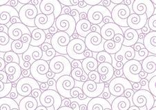 Purpurrote Pastell-Spirale auf weißem Vektor-Hintergrund Lizenzfreie Stockfotografie