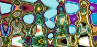 Purpurrote phosphoreszierende rote flüssige Geometrie, abstrakter kreativer Hintergrund Lizenzfreie Stockfotos