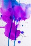 Purpurrote rosa Aquarellbeschaffenheit Stockbild