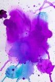 Purpurrote rosa Aquarellbeschaffenheit Lizenzfreies Stockbild