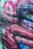 Purpurrote rosa dunkle Farbe, die weichen Mischungsfarben, malend beschmutzt Hintergrund, bunten abstrakten Hintergrund des Aquar Lizenzfreies Stockbild