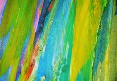 Purpurrote rosa schlammige Stellen des blauen Grüns, kreativer Hintergrund des Farbenaquarells Stockbild
