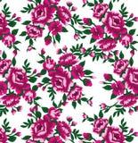 Purpurrote Rosen auf einer weißen Hintergrunddichte Stockfotografie