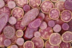 Purpurrote Süßkartoffeln Lizenzfreie Stockbilder