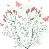 Purpurrote Schmetterlinge für Grußkarten Lizenzfreies Stockbild