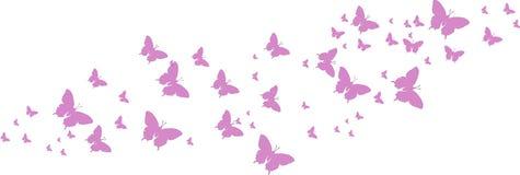 Purpurrote Schmetterlinge für Grußkarten Lizenzfreies Stockfoto