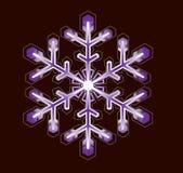 Purpurrote Schneeflocke Stockfoto