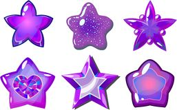 Purpurrote Sterne Lizenzfreies Stockbild