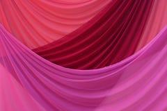 Purpurrote Trennvorhänge Stockbild