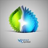 Purpurrote und grüne Form Lizenzfreie Stockfotografie