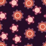 Purpurrote und orange Blumen Stockfoto