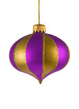 Purpurrote Weihnachtsbaumverzierung Lizenzfreie Stockfotos