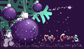 Purpurrote Weihnachtsspielwaren Lizenzfreies Stockfoto
