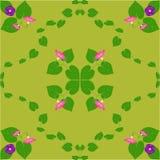 Purpurrote Winde der Abstraktionsmusterrosa-Blume verlässt Grün Stockfoto