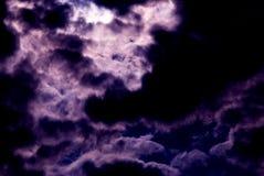 Purpurrote Wolken Stockbild