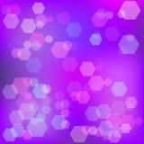 Purpurroter abstrakter Hintergrund mit bokeh raster Lizenzfreie Stockbilder