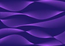 Purpurroter abstrakter Hintergrund mit Wellen Vektor stock abbildung