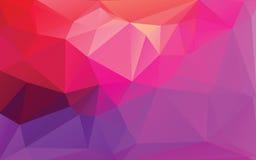 Purpurroter abstrakter niedriger Polyvektor-Hintergrund Stockfoto